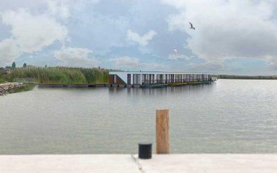 Megkezdődött a Velencei tavi úszóház telepítési projektünk